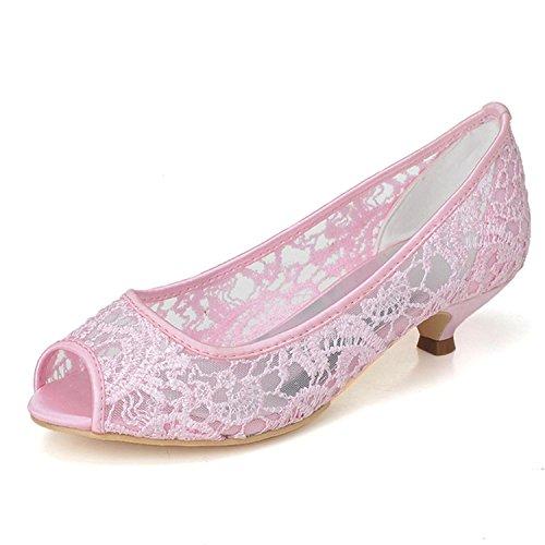 L@YC Zapatos De TacóN alto Para Mujer Zapatos De TacóN alto Evening Wedding / Party & Pink / White Talla Grande Pink