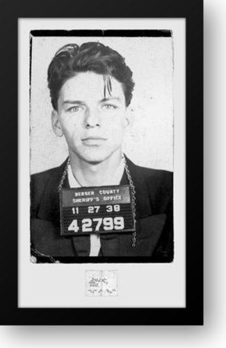 Amazon.com: Frank Sinatra-Mugshot 24x39 Framed Art Print: Artwork ...