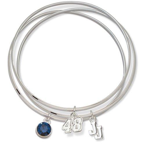 LogoArt Jimmie Johnson #48 Triple Bangle Bracelet (Daytona Polished Brass)