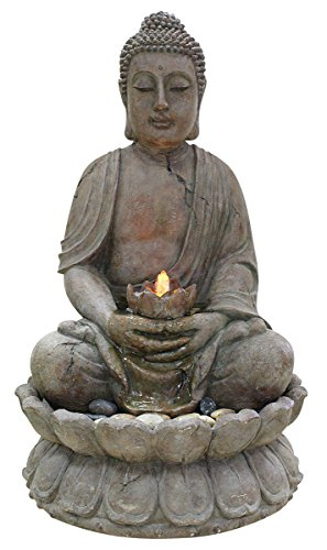 Alpine GEM122 Buddha Water Feature with LED Light