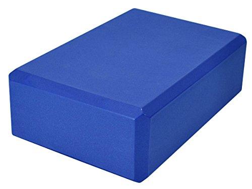 YogaAccessories 3'' Foam Yoga Block - Blue