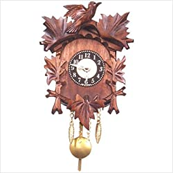 Age-Old Bird and Leaf Motif Cuckoo Clock
