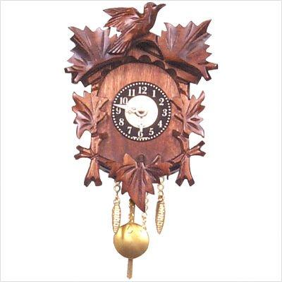 Alexander Taron Age-Old Bird and Leaf Motif Cuckoo Clock