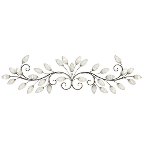 Stratton Home Decor S07736 Brushed Pearl Over The Door Wall Decor, 51.00 W x 1.00 D x 15.00 H, White ()