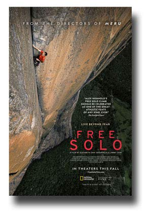 Free Solo Poster Movie Promo 11 x 17 inches National Geographic Main Cliff ()