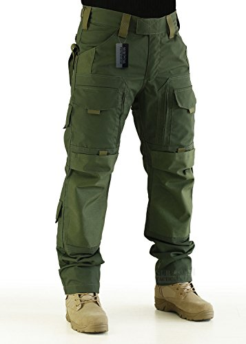 ZAPT Tactical Molle Ripstop Combat Trousers Army Multicam/A-TACS LE Camo Pants for Men (OD Green, S)