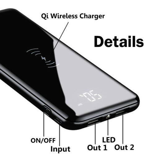 qi wireless power bank for iphone 11, iphone 11 pro and pro max