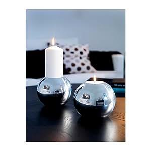 Candle Holder Round Aluminum