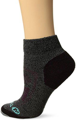 Merrell Women's 1 Pack Cushioned Zoned Light Hiker (Low/Quarter/Crew Cut Socks), Black Marl (Quarter), Shoe Size: 4-9.5