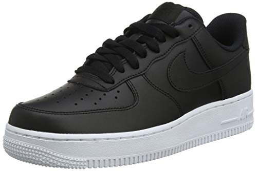 Nike Mens Air Force 1 07 Leather Black White Trainers 8.5 US