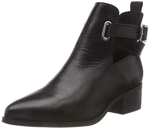 Strap 100 Femme Open Bianco Noir Boot Bottines 4fRZY5q
