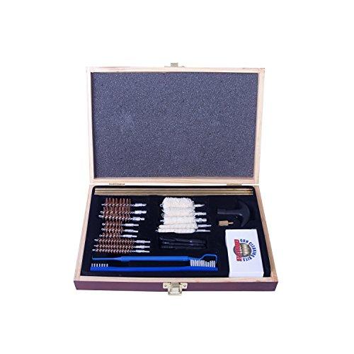 Gunmaster Univ Select 30 Pc .22 Cal Cleaning Kit Wood Case