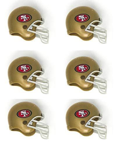 NFL 6 Pack San Fransisco 49ers 2017 Helmet Mini Football 2