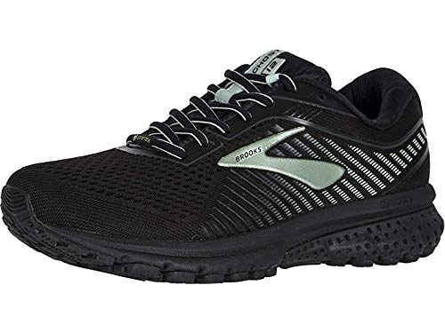 Brooks Women's Ghost 12 GTX Black/Ebony/Aqua 10 B US