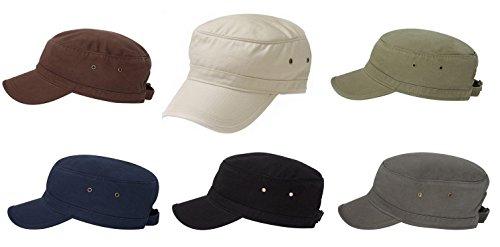 econscious 100% Organic Cadet Cap 6 Pack (Grey, Black, Navy, Brown, Stone, (Cadet Hat)
