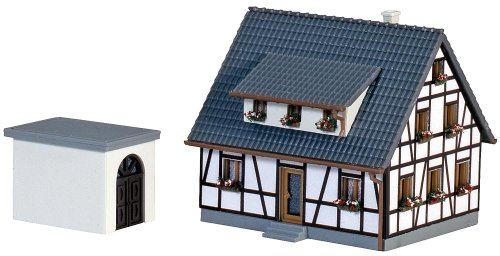 Faller 282760 Half-Timbered House Z Scale Building Kit, Blue
