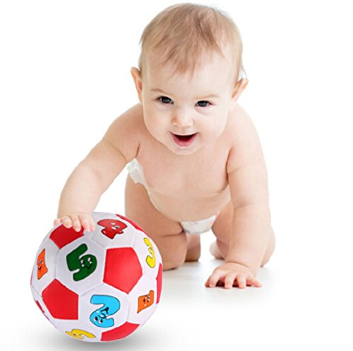 Baby Kid Early Education Football Toys Number Learning Ringing Ball Multi-color Child Toys]()