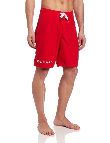 Speedo Men's Guard 21 Inch Board Shorts, Red, 40