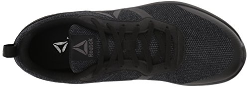 Reebok Mens Foster Flyer Running Shoe Black/Ash Grey 0fb4D
