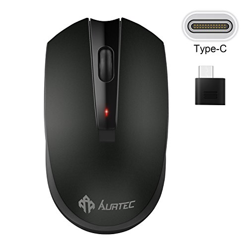 Type C Wireless Mouse, AURTEC 2.4GHz USB-C Wireless Mice for Laptop and More USB-C Devices