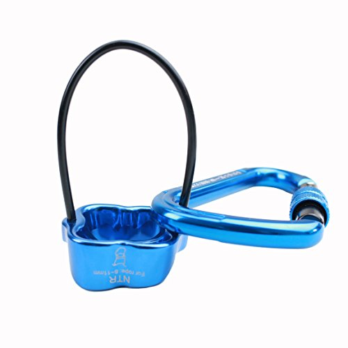 Geelife Professional Rescue ATC Guide Belay Device And Carabiner Rock Climbing Gear Group B Rappel Descender Devices Safety Equipment (Blue) by Geelife