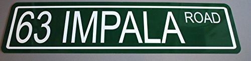 METAL STREET SIGN 1963