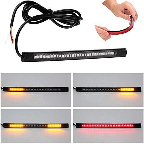 kangOnline Universel Flexible 48/LED Moto Bande Lumineuse Feux Stop Clignotants lumi/ère de Plaque dimmatriculation