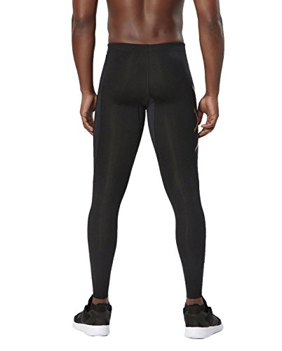 2XU Men's Elite MCS Compression Tights, Black/Gold, Medium by 2XU (Image #2)