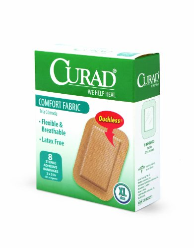 Curad Extra Large Comfort Fabric, 2 Inches X 3 Inches (Pack of (Curad Flexible Fabric)