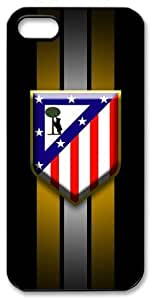 Atletico Madrid Logo FC HD image case cover for iphone 5 black A Nice Present by runtopwell