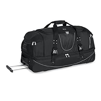 """A.T Gear Ultimate Access 36"""" 2-Wheeled Drop Bottom Travel Duffel with Backpack Straps Color: Black"""