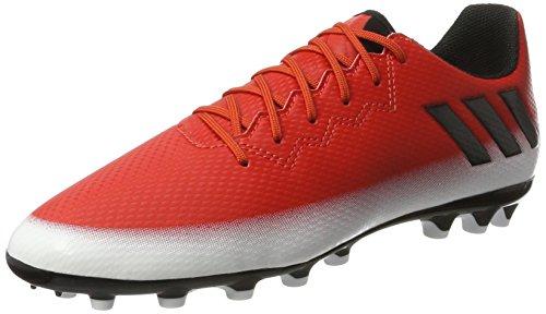 adidas Messi 16.3 Ag, Zapatillas de Fútbol Unisex Niños Rojo (Red/core Black/footwear White)