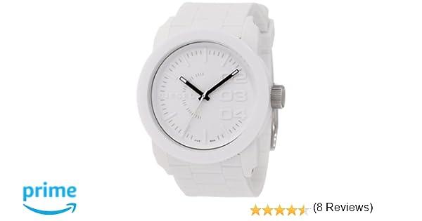 Diesel DZ1436 - Reloj analógico de Cuarzo para Hombre con Correa de Silicona, Color Blanco: Diesel: Amazon.es: Relojes