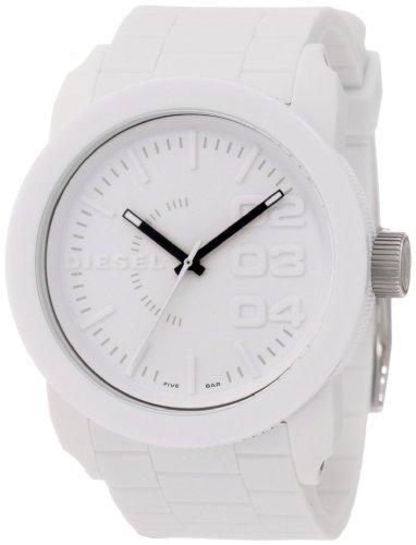 Diesel DZ1436 - Reloj analógico de Cuarzo para Hombre con Correa de Silicona, Color Blanco