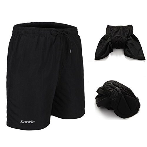 HAMSWAN Men's Loose-Fit 4D Padded Breathable Bike Shorts for Cycling