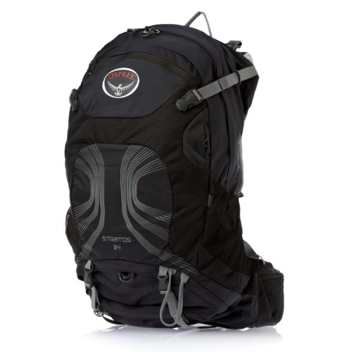 Osprey Packs Stratos 34 Backpack Anthracite Black MediumLarge
