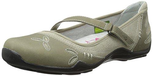 Mary Janes Leather Indigo (Ahnu Women's Gracie Pro Mary Jane Flat, Silver Sage, 6 M US)