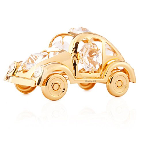 Matashi Vehicle Collection: 24K Gold Plated Beetle, Buggy & Vintage Car Ornament Made with Genuine Matashi Crystals