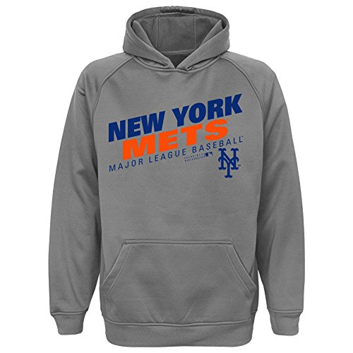 Mets Sweatshirts - OuterStuff MLB Youth 8-20 Mets performance hood, Xl(18), Grey