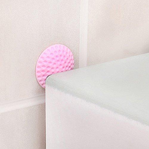 Mur Auto-adh/ésif en Caoutchouc de Silicone de poign/ée de poign/ée de Bouton de Blocage de Porte Tapis pour Chambre /àcoucher,Cuisine Bureau CRYSNERY Bouclier Mural de Bouton de Porte