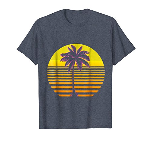 Retro 80s Sunset Palm Tree Classic Outrun T-Shirt