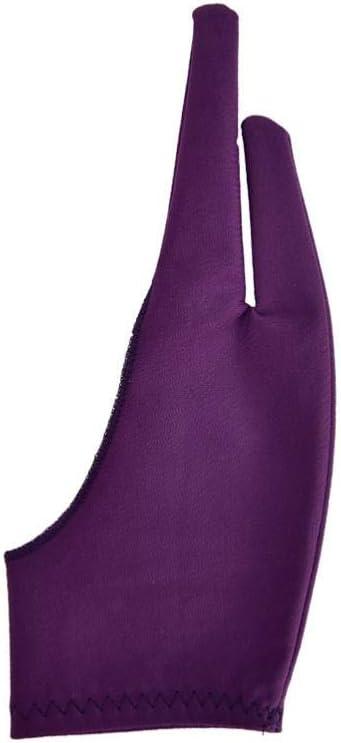パープル2指防汚手袋、グラフィックス描画Tablet6pcs PurpleS