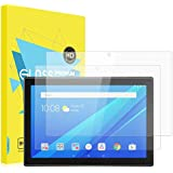 MoKo Screen Protector for Lenovo Tab 4 10 Inch, [2 Packs] Scratch Terminator Premium HD Clear Anti-Bubble 9H Hardness Tempered Glass Screen Protector Film for Tab 4 10 Inch Tablet, Crystal Clear