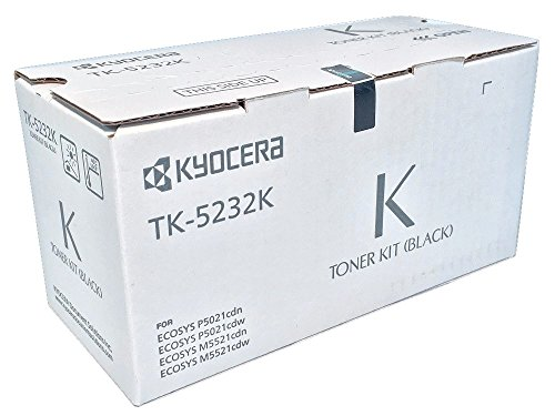 - Kyocera 1T02R90US0 Model TK-5232K Black Toner Cartridge Compatible with ECOSYS P5021cdn, P5021cdw, M5521cdn and M5521cdw Laser Printers; Up to 2600 Pages Yield at 5 Percent Average Coverage