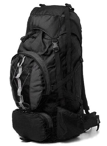 AVS Ul 60 Plus 10 Liter Internal Frame Hiking Camp Travel Backpack Bag Black, Outdoor Stuffs