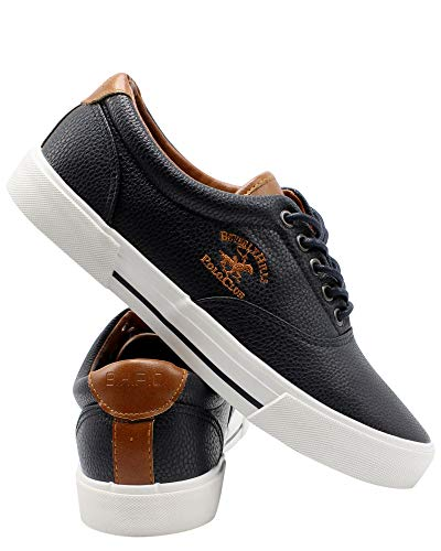 Beverly Hills Polo Club Mens LACE UP Deck Sneaker,Navy,10.5 ()