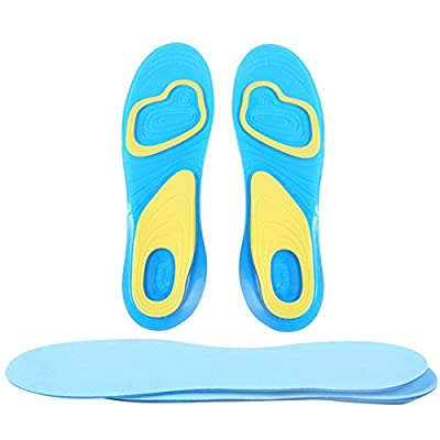 1 Pair Orthotic Arch Support Massaging Silicone Anti-Slip Gel Soft Sport Insole Pad Foot Care