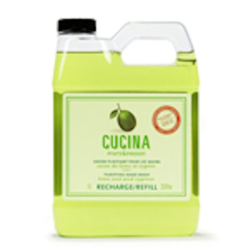 Fruits & Passion Foaming Bath - Cucina Lime Zest and Cypress 33.8 oz Purifying Hand Wash Refill
