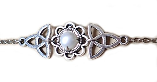 Moon Maiden Jewelry Celtic Triquetra Trinity Knot Headpiece Pearl ()