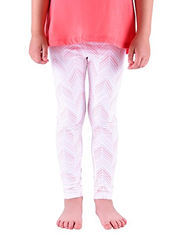 Colored Organics Girls' Classic Organic Toddler Eco Leggings - Herringbone - 5T